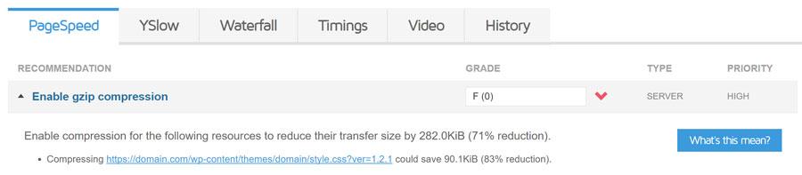 حل مشکل enable gzip compression