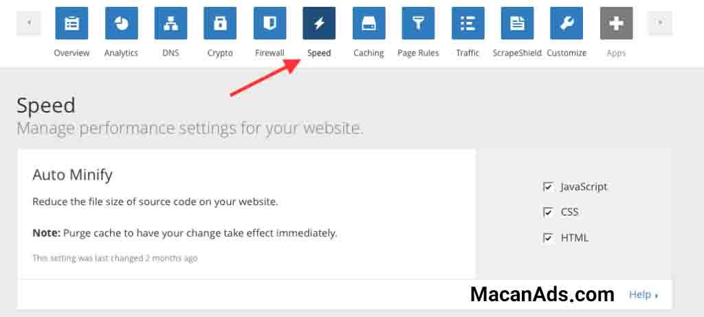 رفع خطای Minify HTML در Cloudflare