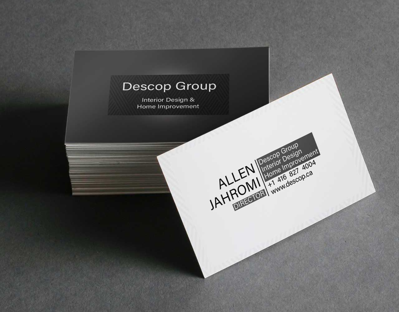 نمونه کار طراحی کارت ویزیت دکوراسیون داخلی